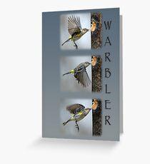 Warbler Collage Greeting Card