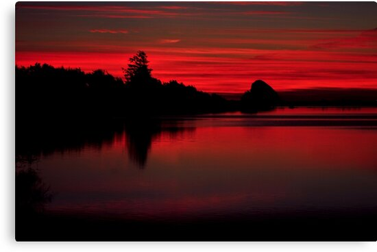 Sunset at Cape Mears Lake by RoseMarie747