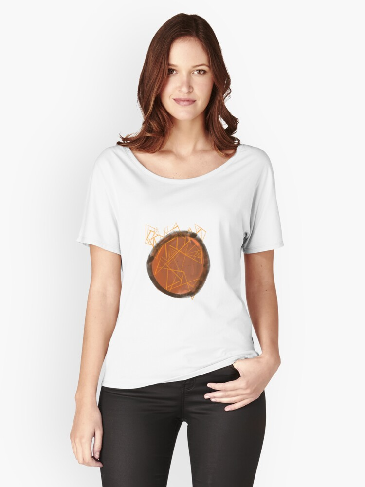 Big brown hole Women's Relaxed Fit T-Shirt Front