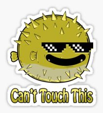 Funny Thug Life Blowfish Puffer Fish Sunglasses  Sticker