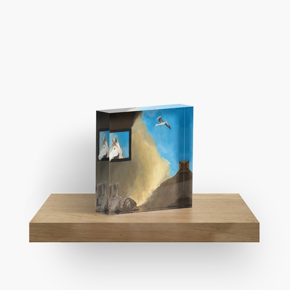 Horse and Child Children's book illustration Acrylic Block