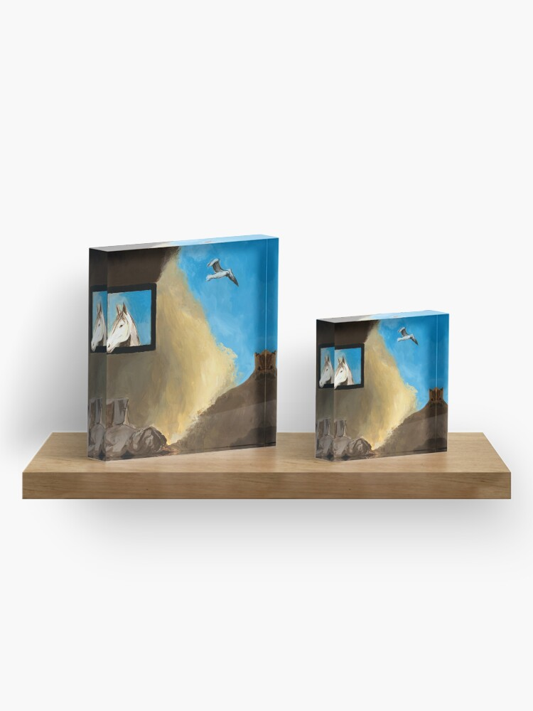 Alternate view of Horse and Child Children's book illustration Acrylic Block