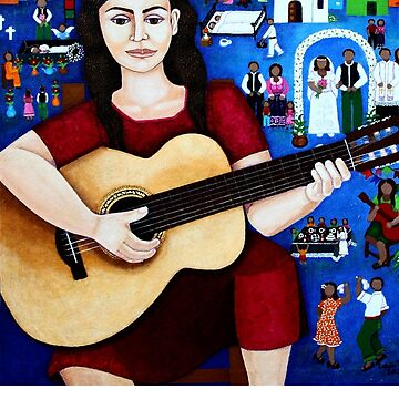 "Violeta Parra  and the song ""Black wedding""  by madalenalobaote"