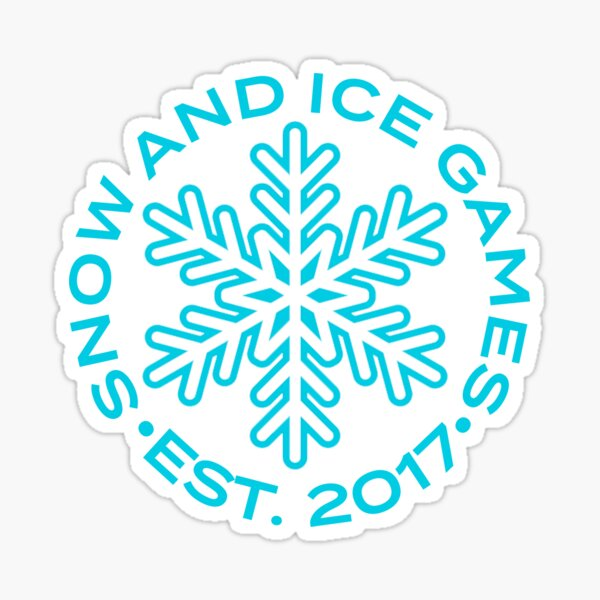 Snow and Ice Games Sticker