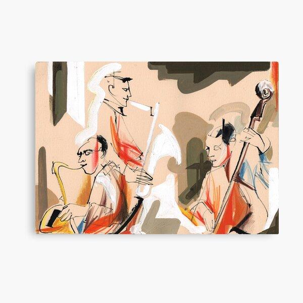 Jazz musicians concert Canvas Print