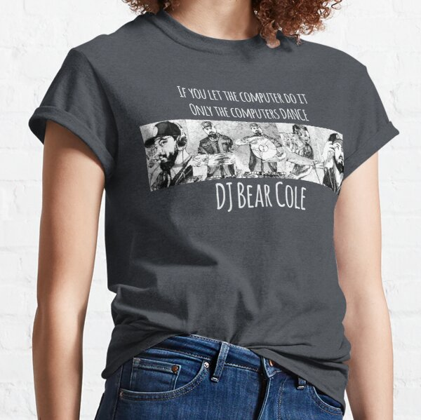DJ Bear Cole Comic Book Classic T-Shirt