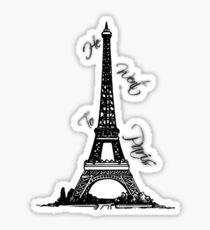 Er ging nach Paris Sticker