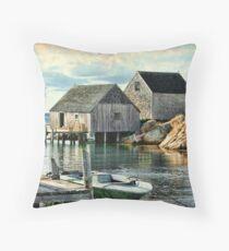 Peggy's Cove, Nova Scotia Throw Pillow