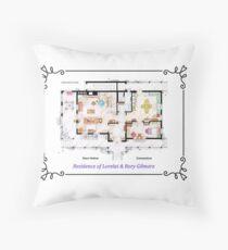 House of Lorelai & Rory Gilmore - Ground Floor Floor Pillow