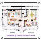 House of Lorelai & Rory Gilmore - Ground Floor by Iñaki Aliste Lizarralde