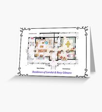 House of Lorelai & Rory Gilmore - Ground Floor Greeting Card