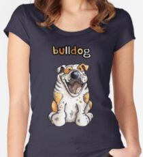 Funny English Bulldog Women's Fitted Scoop T-Shirt