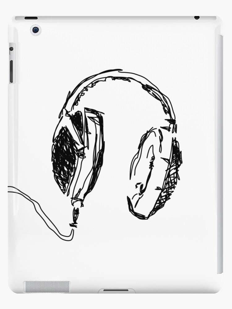 Headphones Ipad Case Skin By Fimbisdesigns Redbubble