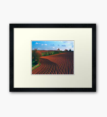 Ridges Framed Print