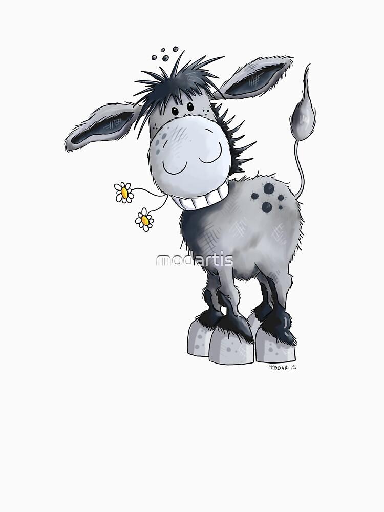 Happy Donkey With Flowers by modartis