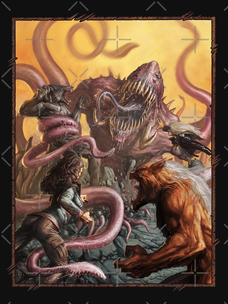 Apocalypse Art: Rage Across the World Wyrm Creature by TheOnyxPath