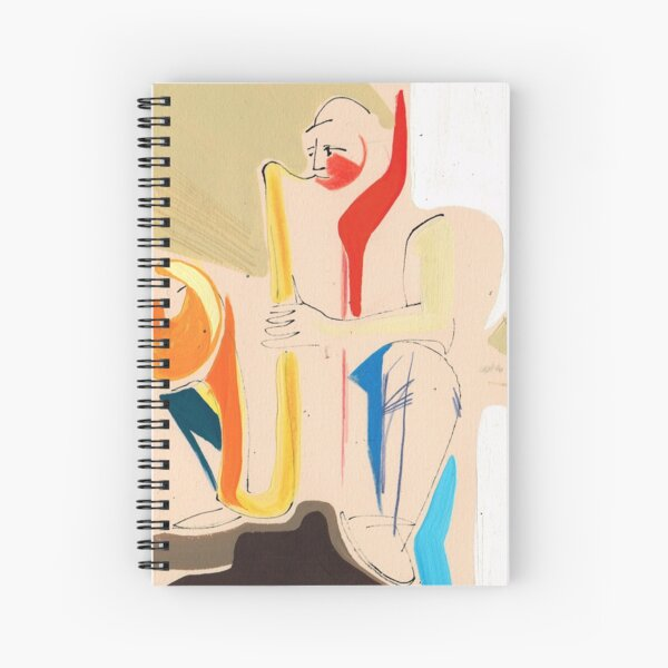 Jazz Groovy Musicians Playing Spiral Notebook