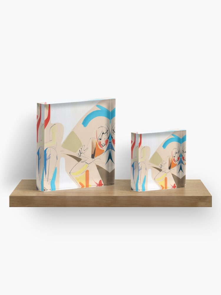 Alternate view of Jazz Groovy Musicians Playing Acrylic Block