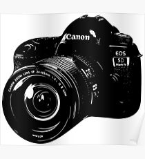 Canon Camera DSLR Poster