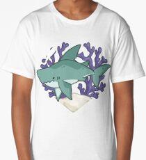 MEGABYTE, the Megalodon Shark Long T-Shirt