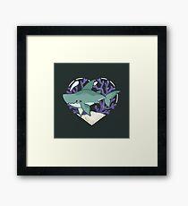 MEGABYTE, the Megalodon Shark Framed Print
