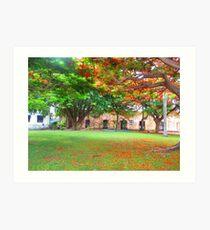 Panama City, Panama Glowing Red Art Print
