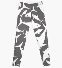Shark Pattern Grey Gray Leggings