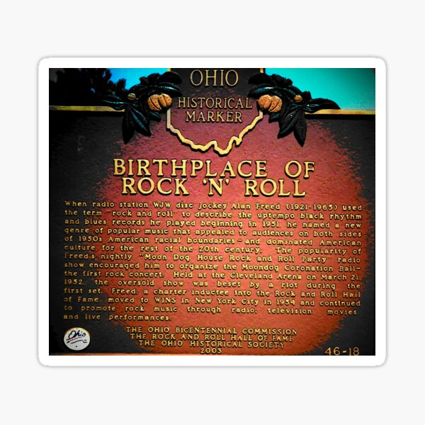 Birthplace of rock and roll Sticker