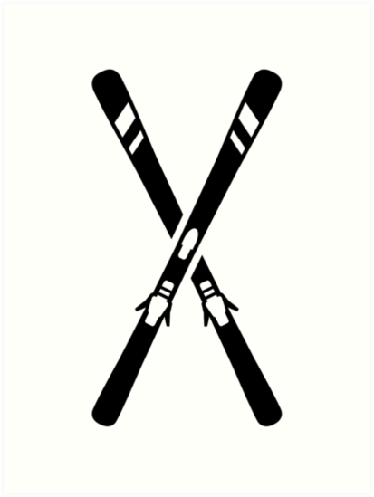 """Crossed ski"" Art Prints by Designzz 