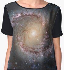 Grand Swirls: NGC 1566 Beautiful Galaxy Chiffon Top