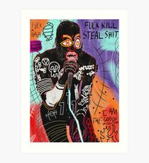 Basquiat MC Ride Art Print