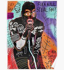 Basquiat MC Fahrt Poster