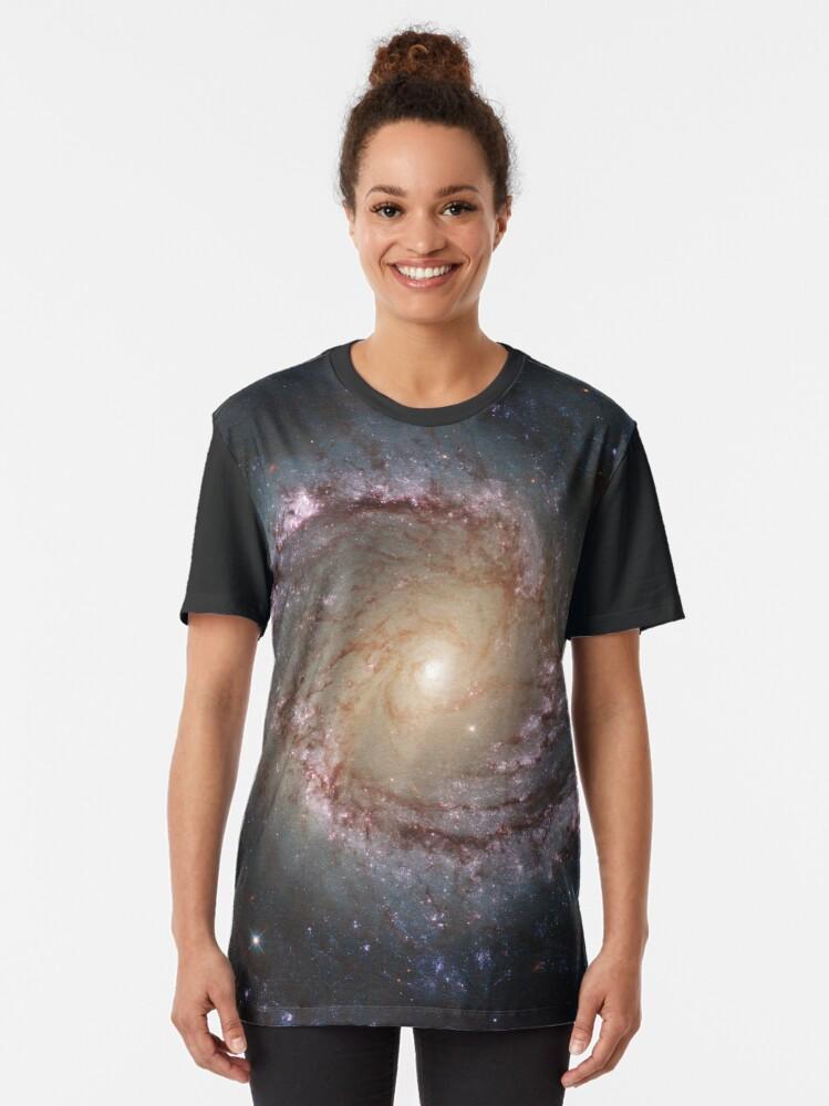 Alternate view of #Grand #swirls, swirls, #hubble, ngc 1566, beautiful, #galaxy, million light years, constellation Graphic T-Shirt