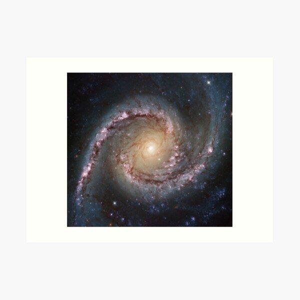 #Grand #swirls, swirls, #hubble, ngc 1566, beautiful, #galaxy, million light years, constellation Art Print