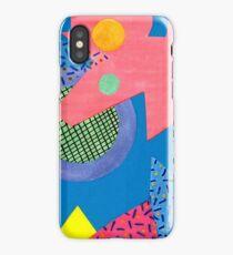 Pattern mix pink-blue iPhone Case