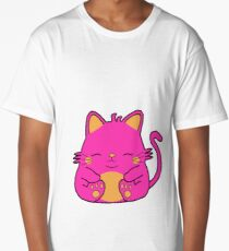 Cute Kitty Cat - Pink Long T-Shirt