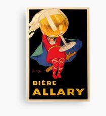 Vintage Beer Poster Canvas Print