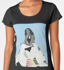 Michelle Obama Portrait Women's Premium T-Shirt