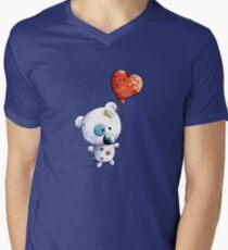 Little Teddy Bear With Balloon Men's V-Neck T-Shirt