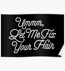 Let Me Fix Your Hair Funny Stylist Saying Poster