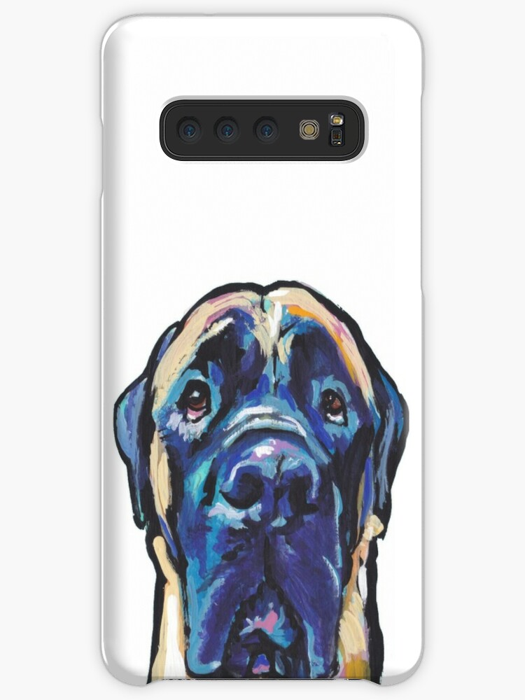 'Fun English Mastiff Dog bright colorful Pop Art' Case/Skin for Samsung  Galaxy by bentnotbroken11