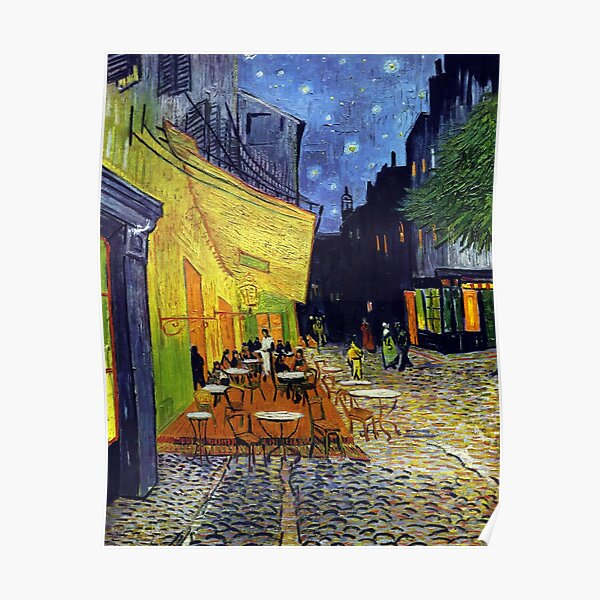 Cafe Terrace at Night Forever Poster