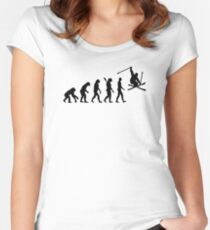 Evolution skiing Women's Fitted Scoop T-Shirt