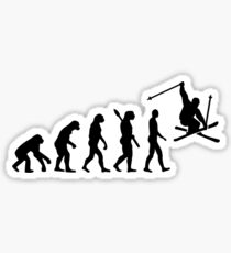 Evolution skiing Sticker