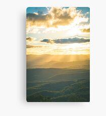 Lichtstrahlen über Blue Mountains Leinwanddruck