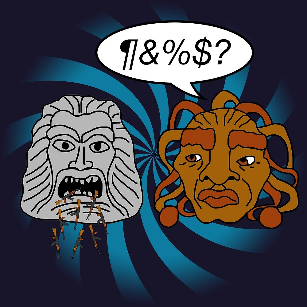 What did you eat?! (or When The Face of Boe met The Head of Zardoz) by WhoBackWhen