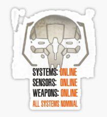 MechWarrior ALL SYSTEMS NOMINAL Sticker