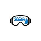 Ski goggles mountains by Designzz