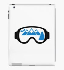 Ski goggles mountains iPad Case/Skin