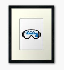 Ski goggles mountains Framed Print